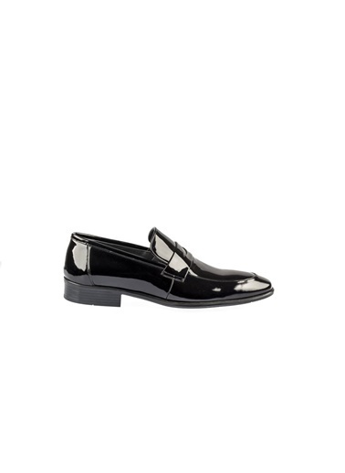 Fosco 9074 Enjeksiyon Taban Siyah Erkek (40-44) Klasik Rugan Ayakkabı Siyah